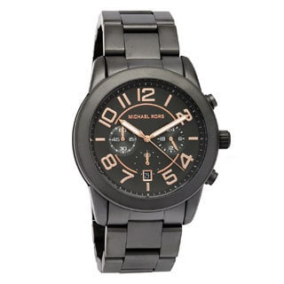 Michael Kors Men's MK8330 'Mercer' Gunmetal Stainless Steel Chronograph Watch