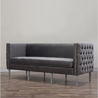 Bryn Grey Velvet Sofa