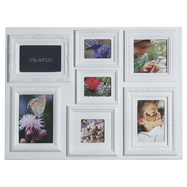 Melannco 7-opening White Collage Photo Frame