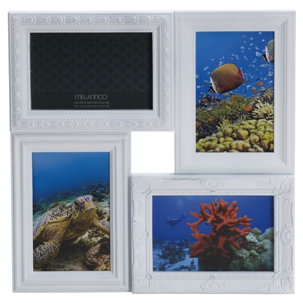 Melannco 4-opening White Multi-profile Collage Frame