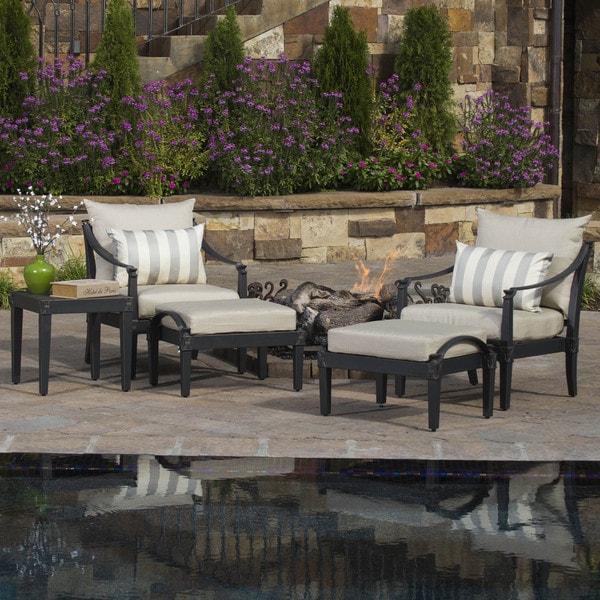 RST Brands Astoria 5-piece Club Chair and Ottoman Set
