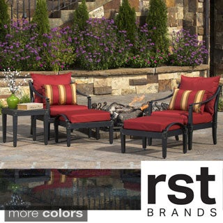 RST Brands Astoria 5-piece Club Chair and Ottoman Set