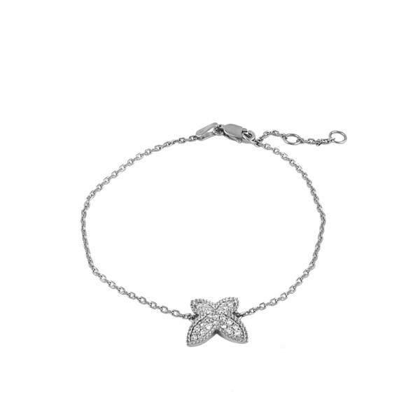 Beverly Hills Charm 14k Gold 1/5ct TDW Diamond Butterfly Adjustable Bracelet (H-I, SI2-I1)
