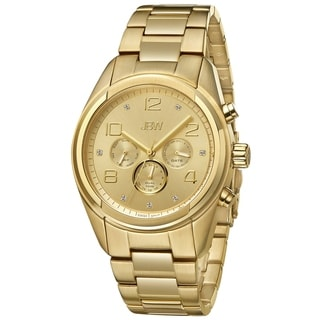 JBW Men's 'Mogul' Yellow Goldtone Stainless Steel Diamond Watch