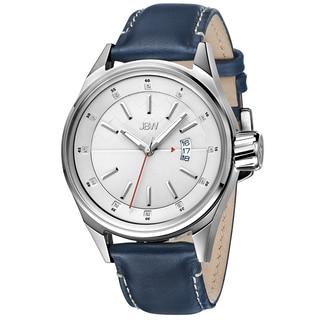JBW Men's 'Rook' Blue Leather Strap Diamond Watch