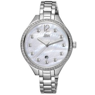 JBW Women's 'Mia' Mother of Pearl Dial Stainless Steel Watch