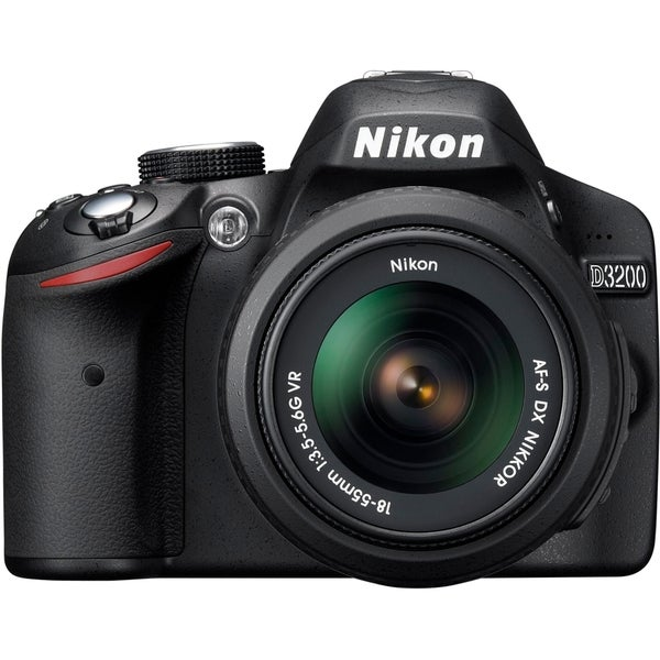 Nikon D3200 24.2MP Digital SLR Camera with 18-55mm and 55-200mm Lenses