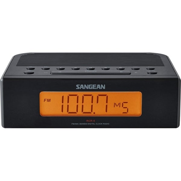 Sangean RCR-5 Black FM/AM Digital Tuning Clock Radio