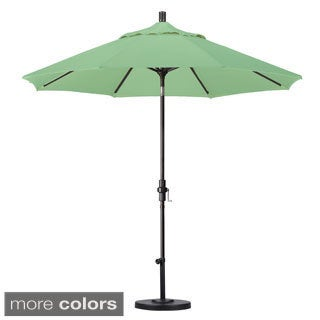 Pacifica 9-foot Crank and Push Button Tilt Umbrella with Base