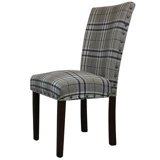 Arbonni Modern Cross Line Parson Chairs (Set of 2)