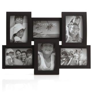 Melannco Black 6-opening Frame (Three 6x4-inch, three 4x6-inch)