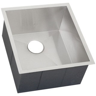 Ticor 18.5-inch 16 Gauge Stainless Steel Square Single Bowl Undermount Bar Sink