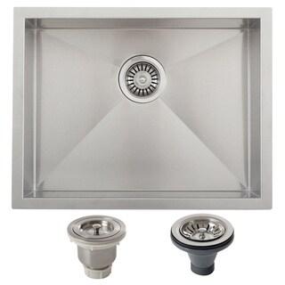 Ticor 22.5-inch Gauge Stainless Steel Square Single Bowl Undermount Bar Kitchen Sink