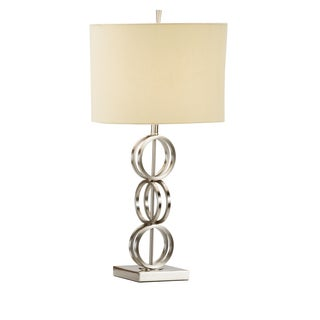 3 Ring 1-light Satin Nickel Table Lamps (Set of 2)