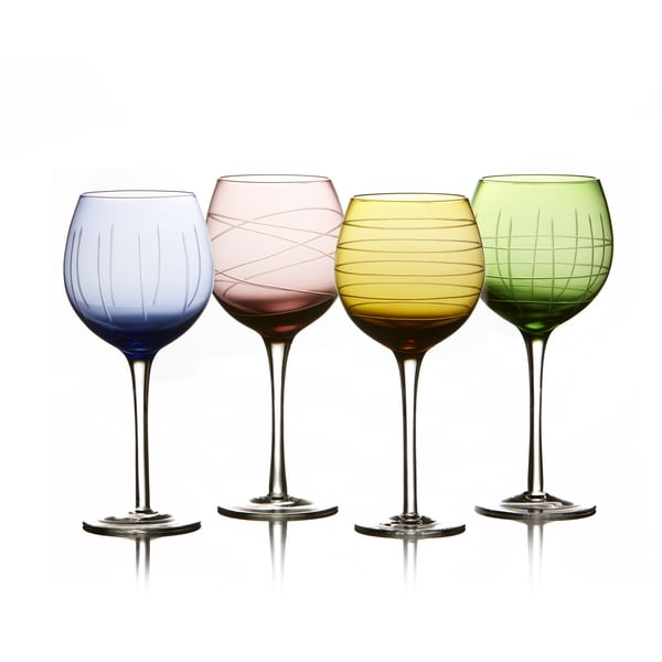 Medallion Colors Goblets (Set of 4)