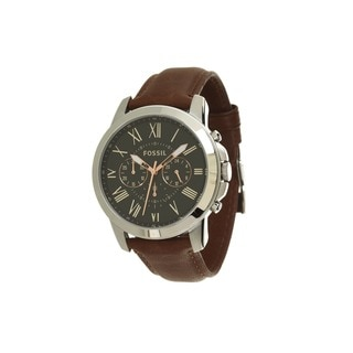 Fossil Men's FS4813 Grant Silver Chronograph Watch