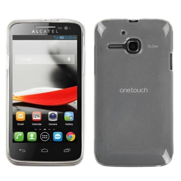 INSTEN Semi-Transparent Smoke Phone Case Cover for Alcatel 5020T/ One Touch Evolve