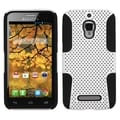 INSTEN White/ Black Astronoot Phone Case Cover for Alcatel 7024W/ One Touch Fierce