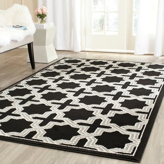 Safavieh Amherst Indoor/ Outdoor Anthracite/ Grey Rug (8' x 10')