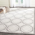 Safavieh Amherst Indoor/ Outdoor Ivory/ Light Grey Rug (8' x 10')