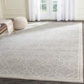 Safavieh Amherst Indoor/ Outdoor Light Grey/ Ivory Rug (8' x 10')