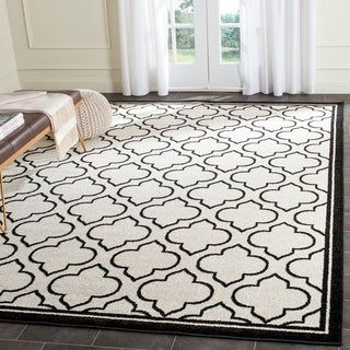 Safavieh Amherst Indoor/ Outdoor Ivory/ Anthracite Rug (8' x 10')