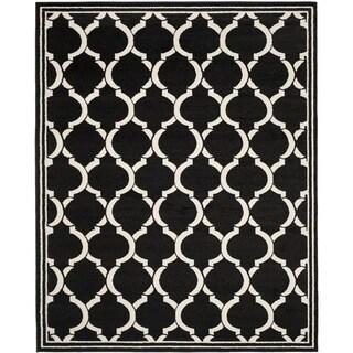 Safavieh Amherst Indoor/ Outdoor Anthracite/ Ivory Rug (8' x 10')