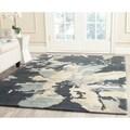 Safavieh Handmade Bella Steel Blue Wool Rug (5' x 8')