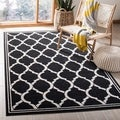 Safavieh Amherst Indoor/ Outdoor Anthracite/ Ivory Rug (5' x 8')