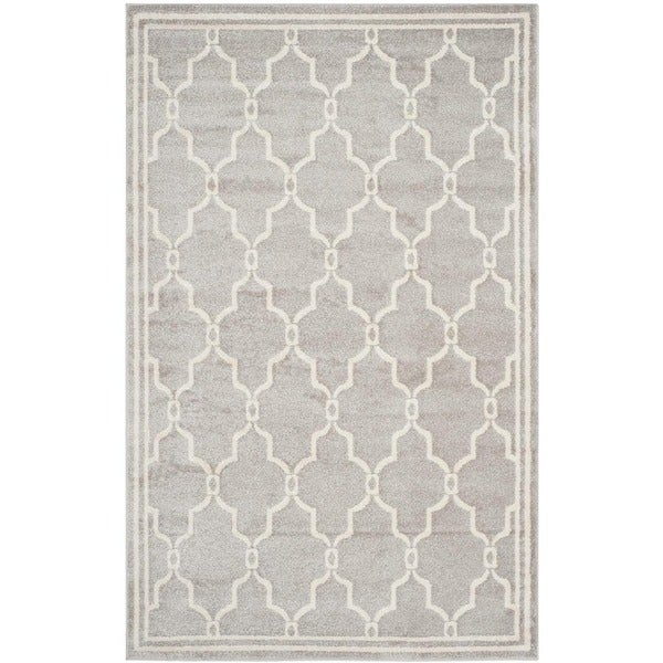 Safavieh Amherst Indoor Outdoor Light Grey Ivory Rug 4