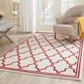 Safavieh Amherst Indoor/ Outdoor Ivory/ Red Rug (4' x 6')
