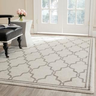Safavieh Amherst Indoor/ Outdoor Ivory/ Grey Rug (4' x 6')