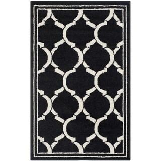 Safavieh Amherst Indoor/ Outdoor Anthracite/ Ivory Rug (2'6 x 4')