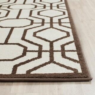Safavieh Amherst Indoor/ Outdoor Ivory/ Brown Rug (2'6 x 4')