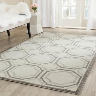 Safavieh Amherst Indoor/ Outdoor Ivory/ Light Grey Rug (4' x 6')