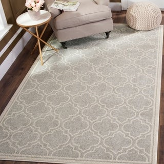 Safavieh Amherst Indoor/ Outdoor Light Grey/ Ivory Rug (4' x 6')