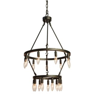 Gallery Rustic Style 18-light Double Tiered Chandelier