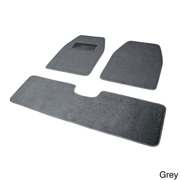 Oxgord Solid Color Rugged SUV, Van, Truck 3-piece Floor Mat Set