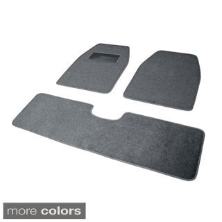 Solid Color Rugged SUV, Van, Truck 3-piece Floor Mat Set