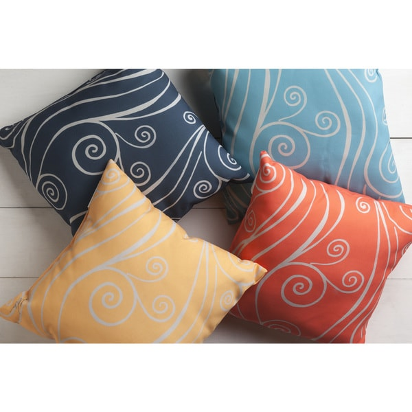 Outdoor Ocean Wave Accent Pillow