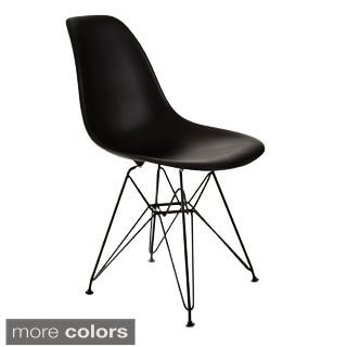 Banks Chair White Seat with Black Legs