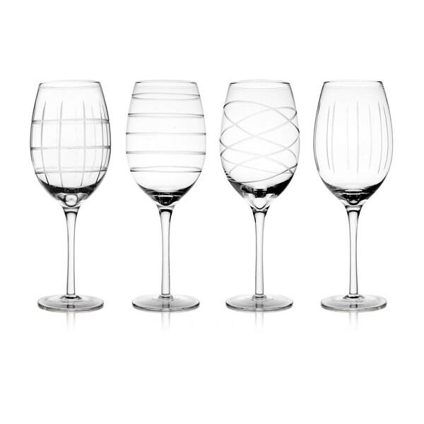 Medallion White Wine Goblets (Set of 4)