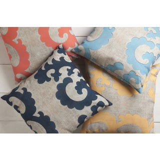 Outdoor Sea Horse Accent Pillow