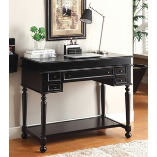 Furniture of America Traditional Multi-Storage Pull-Out Secretary Writing Desk