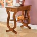 Furniture of America Antique Oak Belton Side Table with Storage Drawer