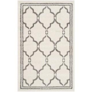 Safavieh Amherst Indoor/ Outdoor Ivory/ Grey Rug (2'6 x 4')