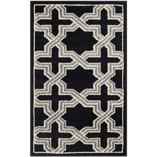 Safavieh Amherst Indoor/ Outdoor Anthracite/ Grey Rug (3' x 5')