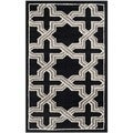 Safavieh Amherst Indoor/ Outdoor Anthracite/ Grey Rug (3' x 5')