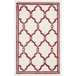 Safavieh Amherst Indoor/ Outdoor Ivory/ Red Rug (2'6 x 4')