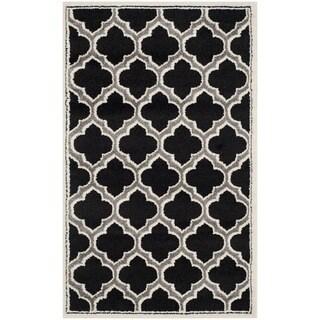 Safavieh Amherst Indoor/ Outdoor Anthracite/ Ivory Rug (3' x 5')